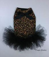 Cheetahlicious Dog Tutu Harness Dress Size Xxxs-m