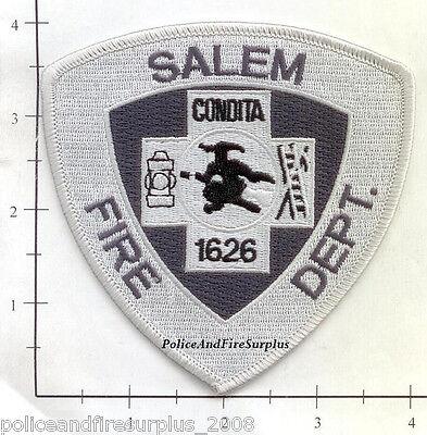 Old Style Subdued Massachusetts Salem MA Fire Dept Patch v6