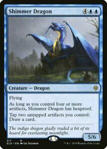 MTG-Shimmer-Dragon-Throne-of-Eldraine-RARE-NM-M-Magic-the-Gathering