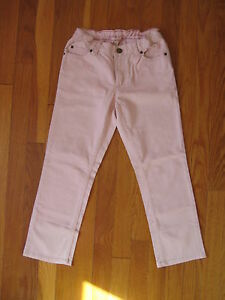 Lands-End-girls-pink-Skimmer-JEANS-Size-10-skinny-capri-cropped-classic-pants