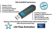 Microsoft Windows 10 Pro Key 32/64 Bit Genuine License + Bootable Usb 3.1/3.0