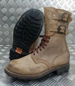 Genuine French Foreign Legion Brown Leather / Suede Army Boots Size 40 NEW FB400