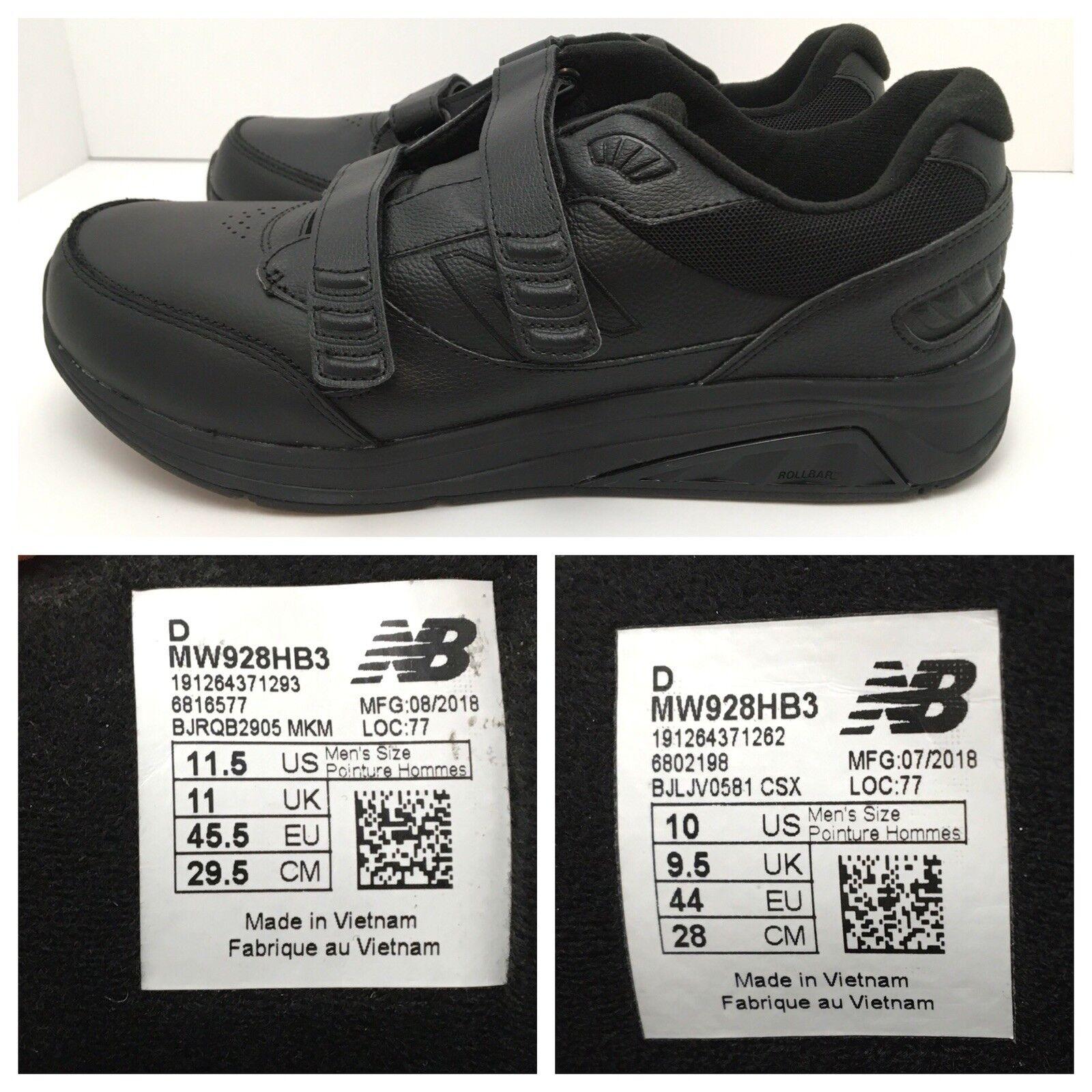 New Confort Balance Negro Cuero Zapato Para Caminar Confort New discordancia Talla L 11.5 R 10 37a6d3