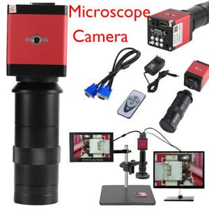8-130X-numerique-industrielle-Microscope-Appareil-Photo-HDMI-video-VGA-Zoom-C-Mount-Len-14MP