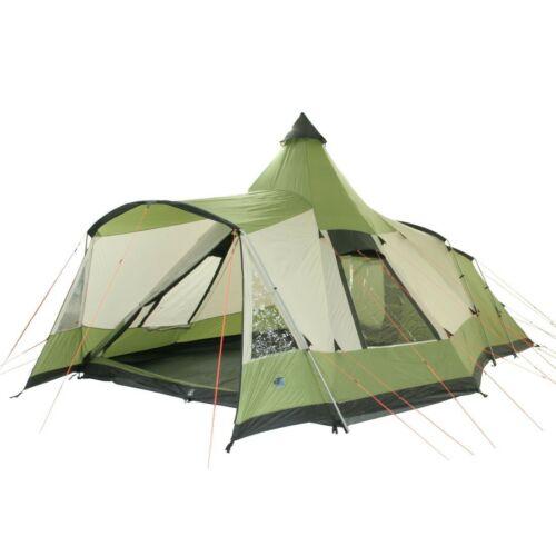 Campingzelt Navaho 5 wasserdichtes Tipi Tunnelzelt 5 Mann Schlafkabine Vordach