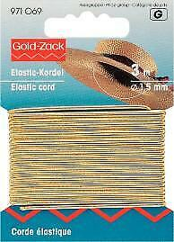 Prym Goldzack Elastic-Kordel 3 m//Ø 1,5 mm Hutgummi Bastelgummi  grau 971066