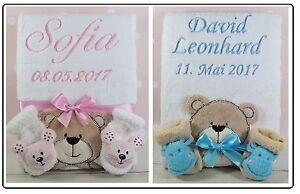 Babydecke Mit Namen Bestickt : babydecke mit namen bestickt kinderdecke babysocken mit ~ Watch28wear.com Haus und Dekorationen