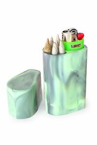 Smoke-Space-Cigarette-Case-Bic-Lighter-Smoking-Accessories-Solid-Black