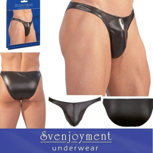 Svenj. lucentezza uomo basic effetto bagnato effetto slip nero nuovo in L Bikini Slip standsrd