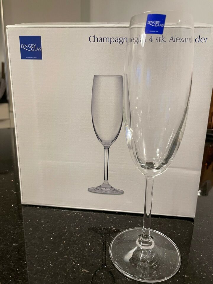 Glas, Champagneglas, Lyngby Glas
