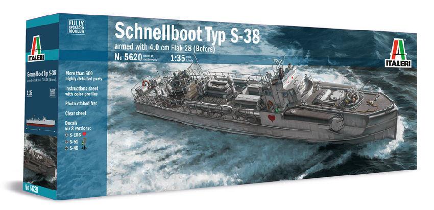 Schnellstivali Typ S-38 armed with 4.0 Cm Flak 28  Bofors  Plastic Kit 1:35 Model