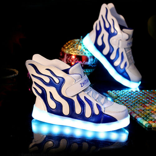 LED Shoes Kids Girls/&Boys Shoes Wings Light Up Sneakers Baby Luminous Trainers