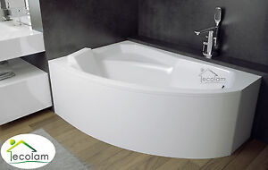 badewanne eckwanne wanne eckig 130x85 140x90 150x95 160x100 170x110 acryl links ebay. Black Bedroom Furniture Sets. Home Design Ideas