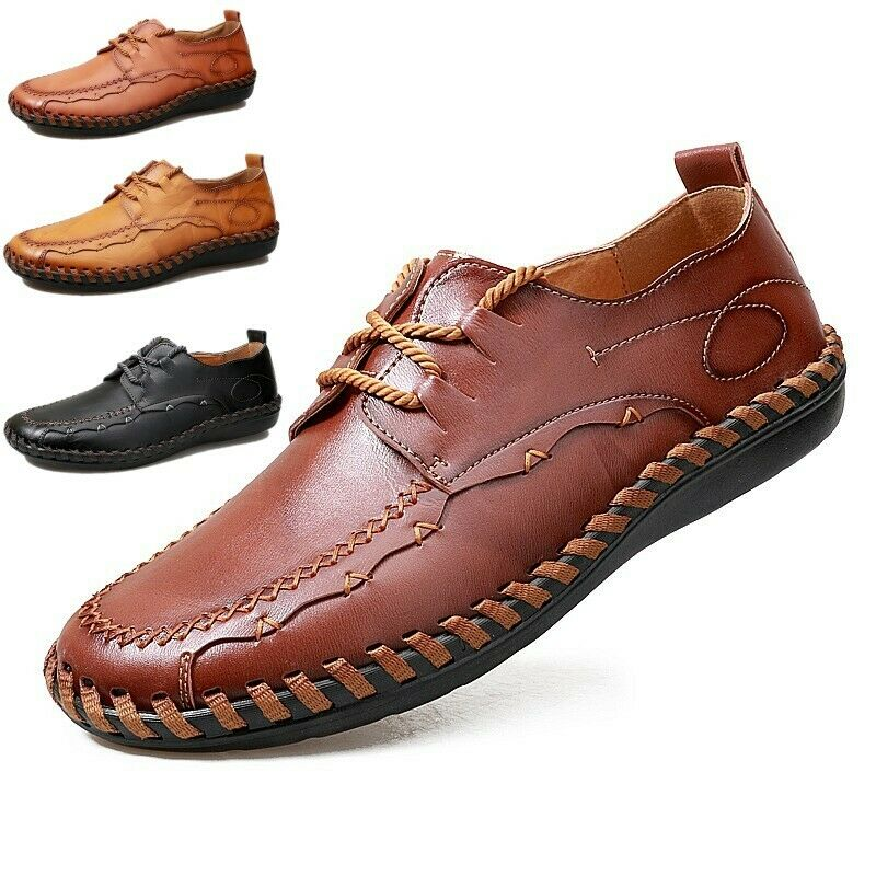 Mens Casual Moccasin-gommino shoes Flats Driving shoes Leather Loafers shoes New