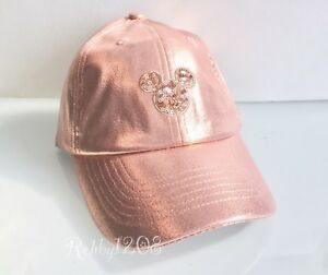 7868c2d49fa0e Disney Parks Minnie Mouse Briar Rose Gold Hat Mickey Icon Baseball ...