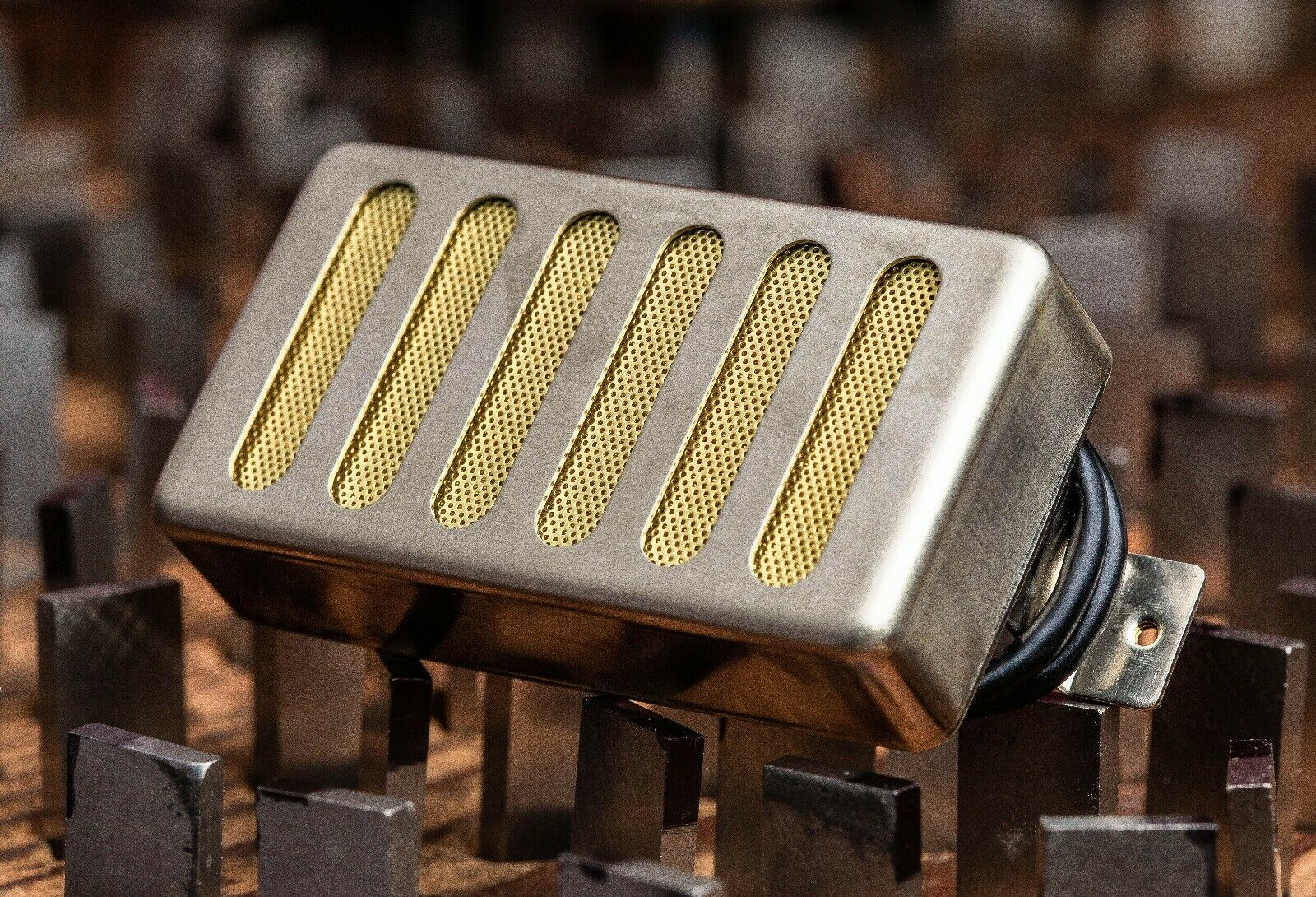 Seymour Duncan Pearly Gates Humbucker Pickup Neck Raw Nickel Radiator Cover Gold
