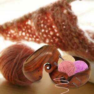 Useful-Yarn-Bowl-Handmade-Knitting-Crochet-Storage-Organizer-Wooden-Bowl-Holder