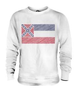 Bandiera Scarabocchiato Regalo Mississippi Maglione Calcio State Unisex qFxwZE1