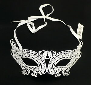 LASER CUT Metal Venetian Masquerade Costume Prom Party Wedding Silver Cat Mask