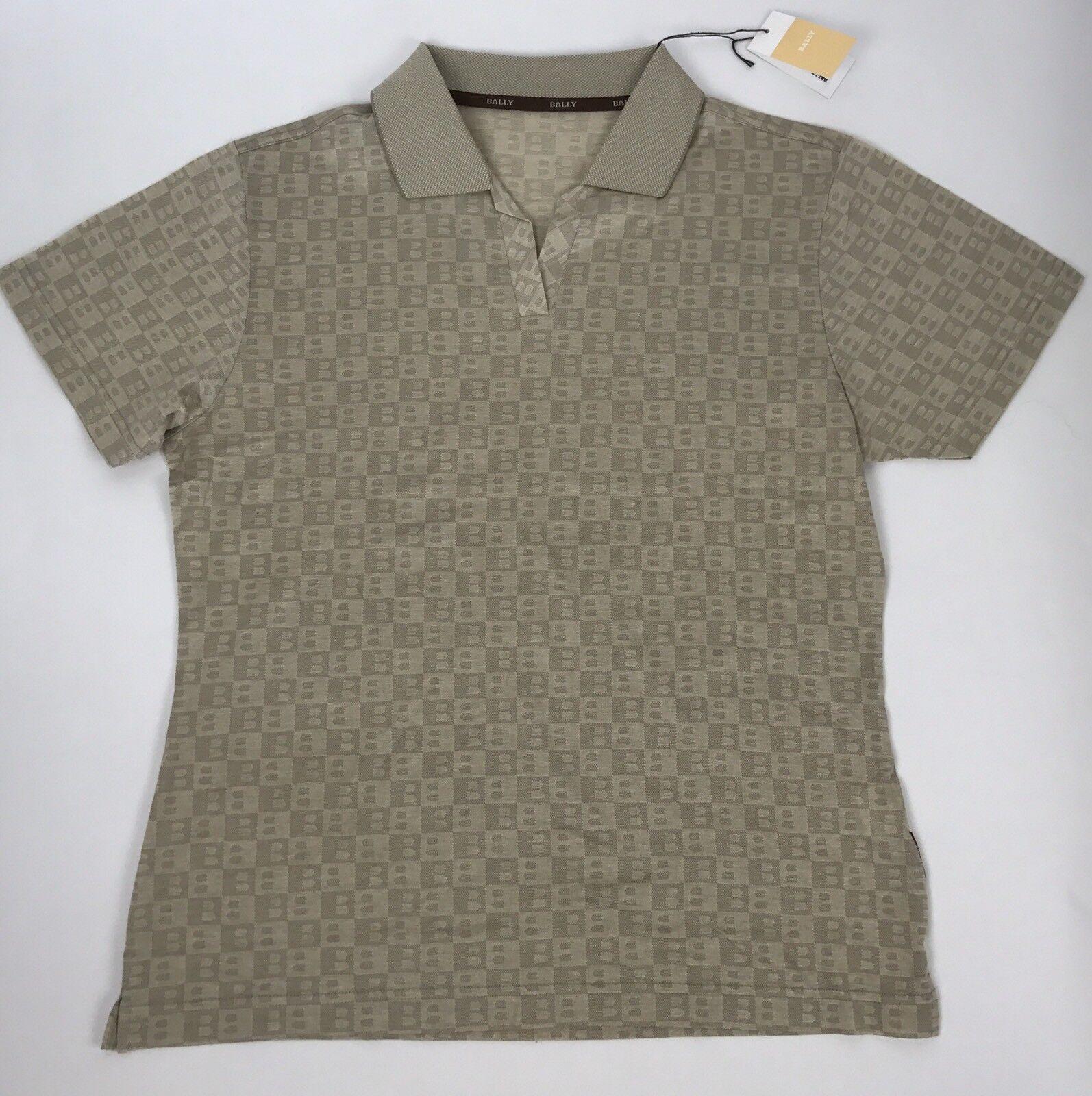 Bally damen's Designer Logo Polo V Neck Short Sleeve Shirt Größe 14-16 New