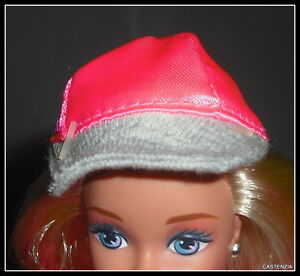 0854944d03f3 BASEBALL CAP BARBIE DOLL BLOOMINGDALE S PINK SATIN HAT MINIATURE FOR ...