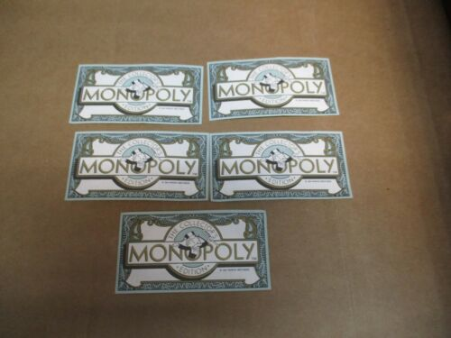5 REPLACEMENT 1991 FRANKLIN MINT COLLECTOR/'S MONOPOLY $50 BILL DOLLAR MONEY