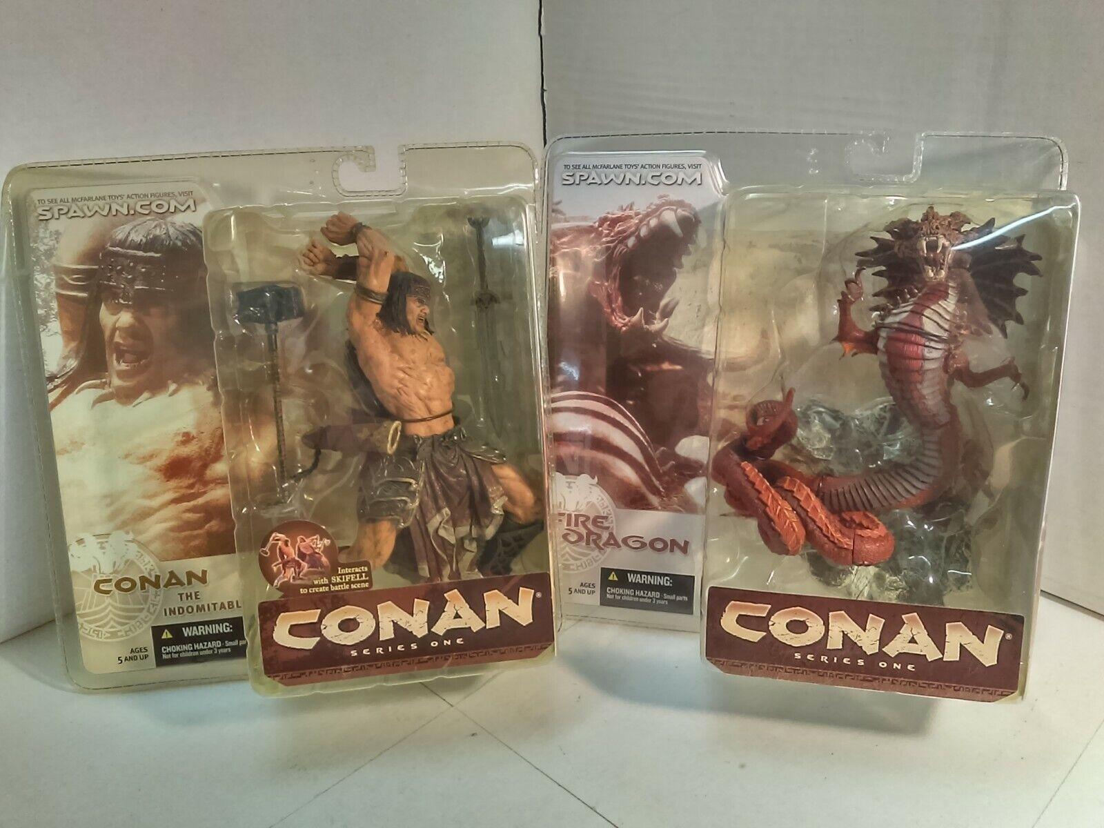 McFarlane Toys - Conan Series One Set of 2 - Conan the Indomitable & Fire Dragon