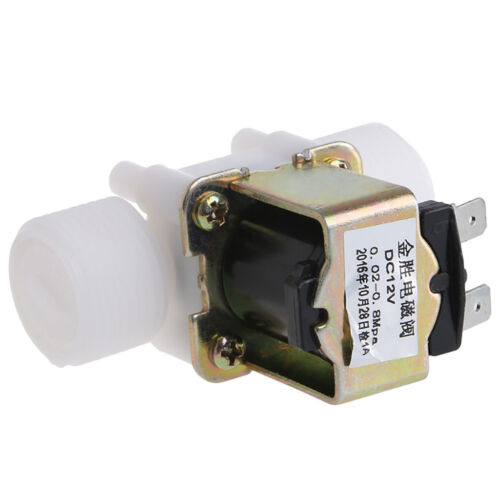"3//4/"" PP N//C DC12V Electric Solenoid Valve Water Control Diverter Device New"