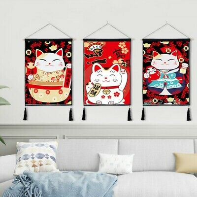 Japanese Noren Printed Tapestry Wall Hanging Flag Banner Background Arts Retro