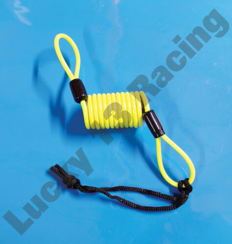 Mammoth security brake disc lock reminder cable motorcycle scooter high vis coil