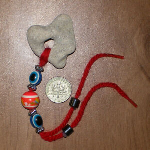 1417 Genuine Hag Stone Red String Evil Eye Amulet Talisman Pebbles With Holes Ebay Adorn your wrists with strikingly designed stone bracelets from alibaba.com. details about 1417 genuine hag stone red string evil eye amulet talisman pebbles with holes