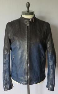 Gucci-Blue-Black-Two-Tone-Leather-Jacket