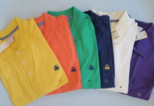 NWT 346 BROOKS BROTHERS Men/'s 100/% Cotton Short Sleeve 3 bottom Polo Rugby Shirt