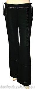 Pantalon-lin-large-fluide-femme-CIMARRON-taille-basse-noir-beige