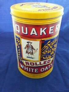VINTAGE-PURE-QUAKER-ROLLED-WHITE-OATS-TIN-1984-Limited-Edition-EXCELLENT-COND