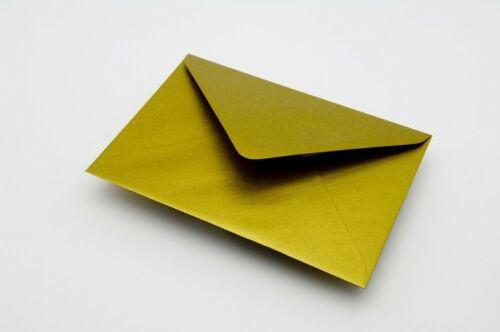 25 alta qualitygold Metal Sobres para tarjetas A7 C7 82x113mm 100gsm Gratis Reino Unido P/&p