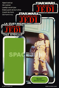 Details About Star Wars Return Of The Jedi Bossk 1983 Repro Tri Logo Cardback
