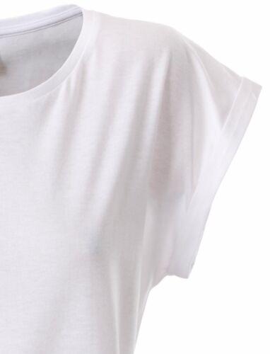 JAN 8005 Damen Fledermaus Bio-Baumwolle T-Shirt COMPANIEER Weiß Weiss Girlie  ..