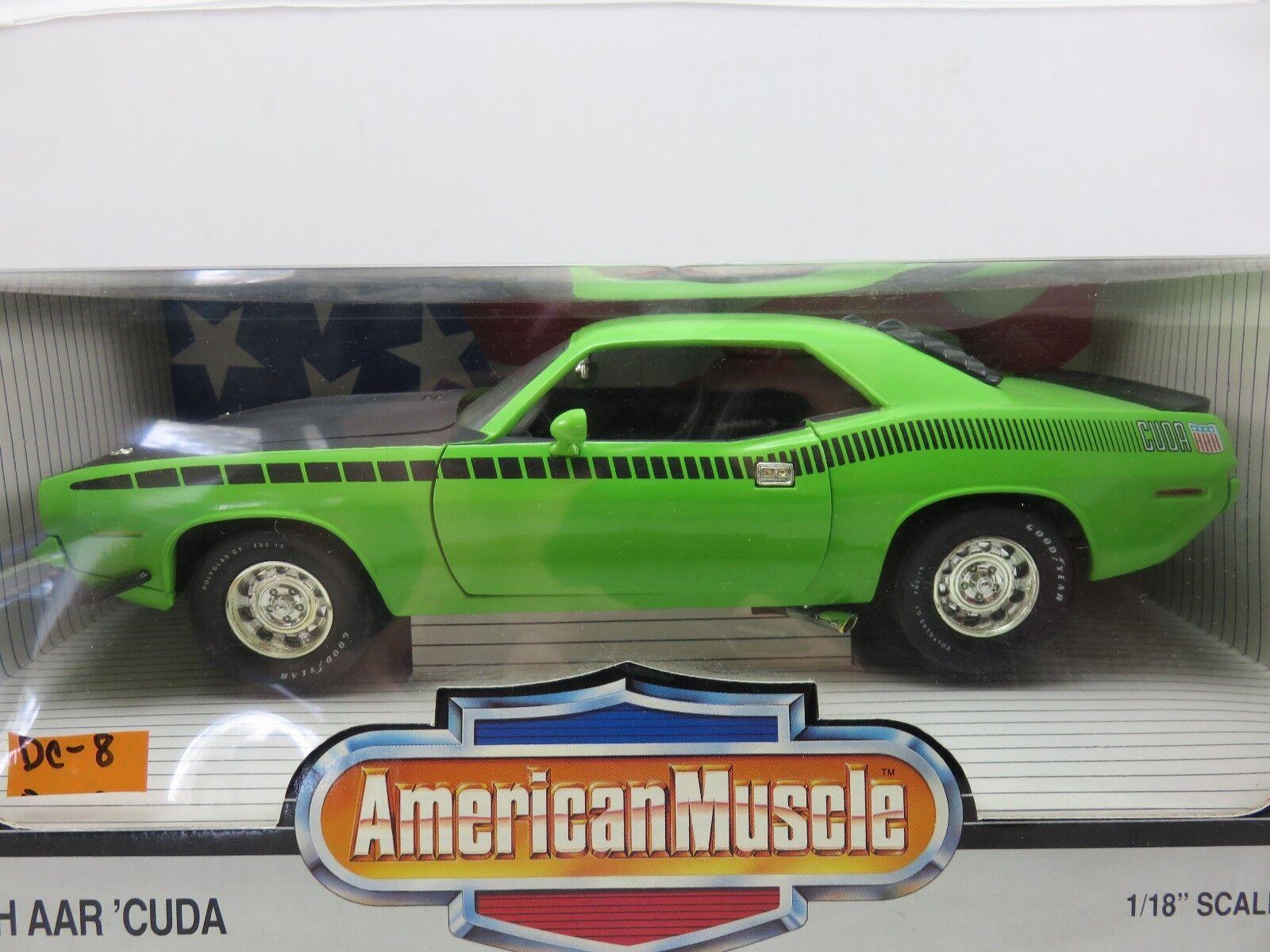 ERTL American Muscle DIE CAST METAL 1970 Plymouth AAR 'CUDA échelle 1 18