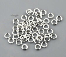 100 x 4mm CLOSED JUMP RINGS SILVER PLATED GOOD QUALITY & FIRM .8mm Gauge