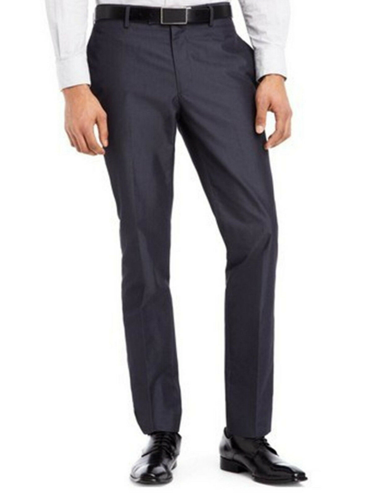 Kenneth Cole Reaction Men's Straight-Fit Charcoal Combo Dress Pants 32W x 32L