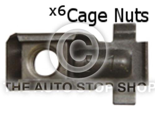 Metal Cage Nut 10 x 1,55MM Drilling 17,2 x 11,2MM Renault Kangoo etc 316re 6pk