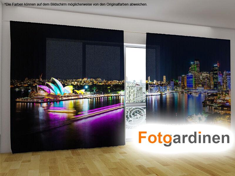 Foto visillos  sidney  cortina con motivo, 3d impresión fotográfica, cortina de fotografía, a medida