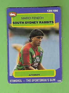 1990-RUGBY-LEAGUE-CARD-135-MARIO-FENECH-SOUTH-SYDNEY-RABBITOHS