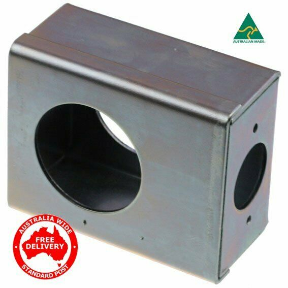 ADI Lock Box For Gates Weld On -Suits Deadbolts-Zinc Plated-04141060
