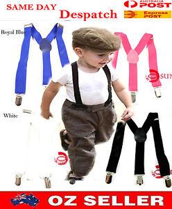 Kids-Boys-Girls-Solid-Color-Adjustable-Elastic-Suspenders-Braces-1-to-8-yearsold