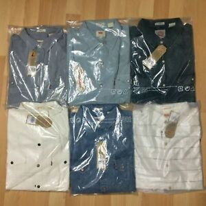 NWT-Levis-Mens-Barstow-Denim-Western-Shirt-Long-Sleeve-100-Cotton-S-M-L-XL-2XL