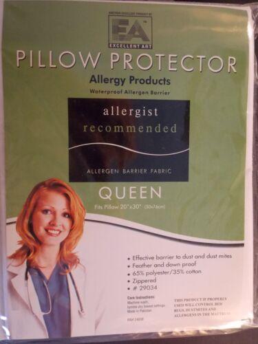 KING---PILLOW PROTECTOR--STOPS BED BUGS DUSTMITES ALLERGEN WATERPROOF-ZIPPERED