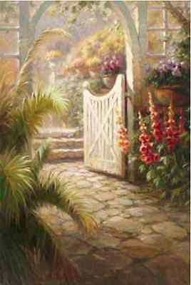 """Counted Cross Stitch Kit """"Garden Gate"""" by Andrea's Designs"""