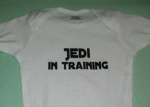 Jedi In Training  Star wars One piece Bodysuit  BABY SHOWER GIFT
